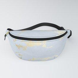 Kintsugi Ceramic Gold on Sky Blue Fanny Pack