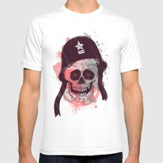 Soldier  MEDIUM White Mens Fitted Tee
