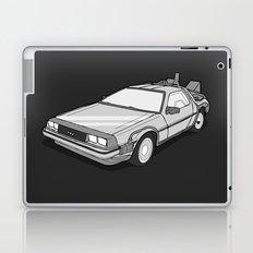 Back to the Future Delorean illustration Laptop & iPad Skin