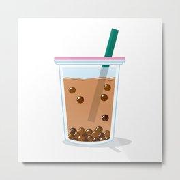 Milk Tea Bubble Metal Print