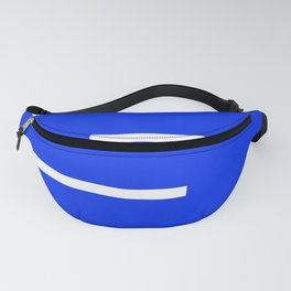 Abstract Minimal Retro Stripes Blue Fanny Pack