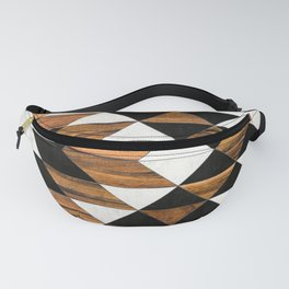 Urban Tribal Pattern No.9 - Aztec - Concrete and Wood Fanny Pack
