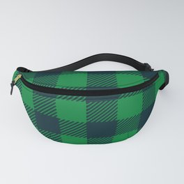Green and blue plaid pattern Fanny Pack