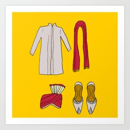 His indian outfit Art Print