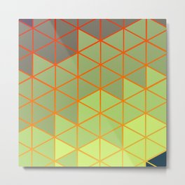 Hexagon Colors - Medium Spring Metal Print