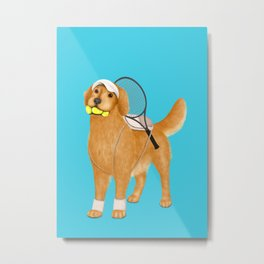 Ready for Tennis Practice (Blue) Metal Print