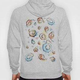Elephants Pattern Watercolor Whimsical Animals Hoody