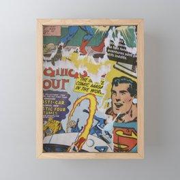 Comics Trip 2 Framed Mini Art Print