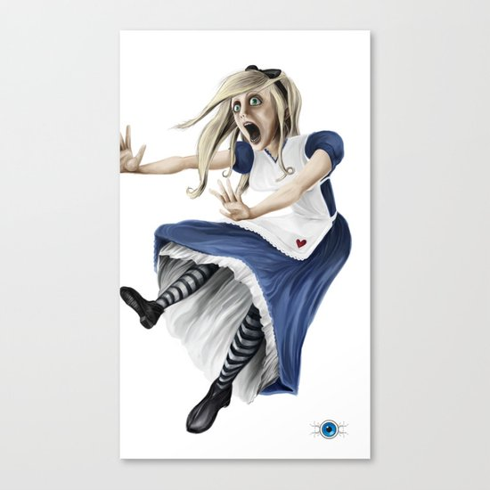 Falling Alice Canvas Print