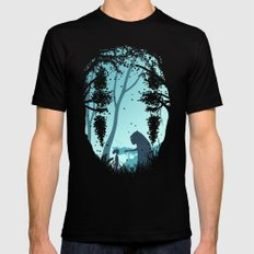 Lonely Spirit Black MEDIUM Mens Fitted Tee