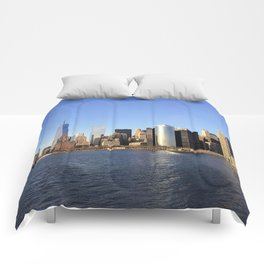 Manhattan seen from the East River Comforters