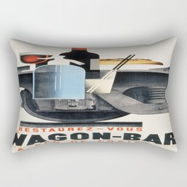 Vintage poster - Wagon-Bar Rectangular Pillow