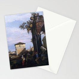 Canaletto - Capriccio with Ruins and Porta Portello, Padua Stationery Cards