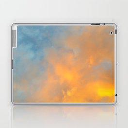 Golden Blue Sky Laptop & iPad Skin