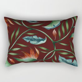 Paradise - Oxblood Rectangular Pillow