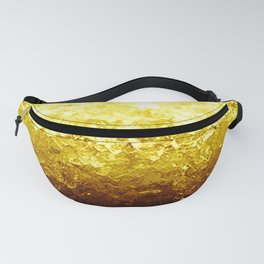 Golden Yellow Ombre Crystals Fanny Pack