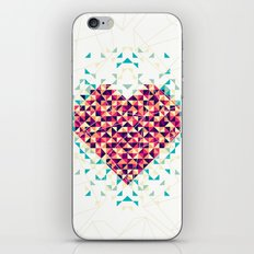 A heart is made of bits and pieces iPhone & iPod Skin