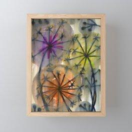 fire works flowers Framed Mini Art Print