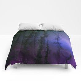 Purple Kelp Forest Edge Comforters