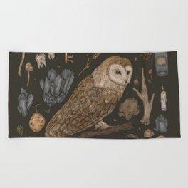Harvest Owl Beach Towel