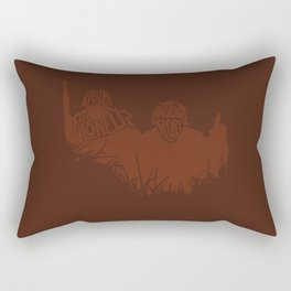 Do You Ever Feel Lonely? Only Around People. -The Thin Red Line Rectangular Pillow