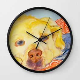 Dog Tired Wall Clock