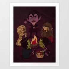 Horror Tales Art Print