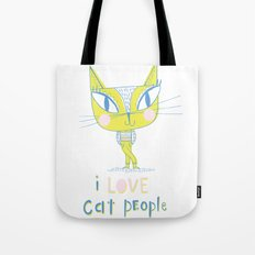 I LOVE Cat People - light Tote Bag