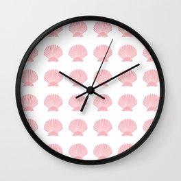 Coral Seashell Wall Clock