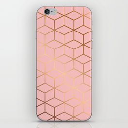 Pink and Gold Geometry 011 iPhone Skin