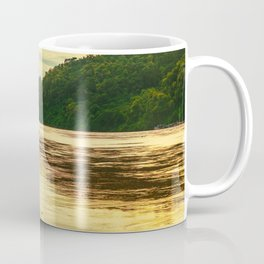 Sunset over the Mekong River Coffee Mug