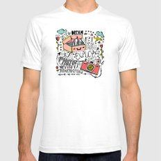 Travel Create Explore SMALL Mens Fitted Tee White
