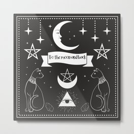 To The Moon And Back With Your Cats Metal Print