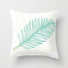 Jacksonville, Florida Palm Leaf Throw Pillow