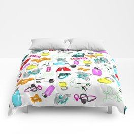 Work Out Items Pattern Comforters