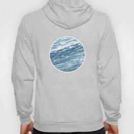 Ocean Water Waves Foam Texture Hoody