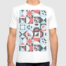 never between White MEDIUM Mens Fitted Tee