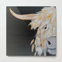 Oro, the Highland Cow Metal Print