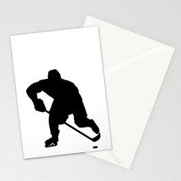 Ice hockey player Stationery Cards
