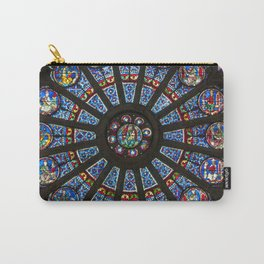 STAINED GLASS Notre Dame Cathedral Paris France Carry-All Pouch