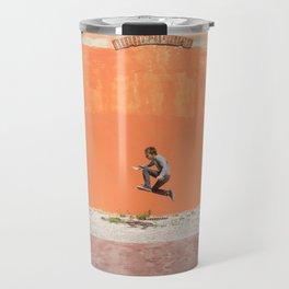 Orange jump Travel Mug