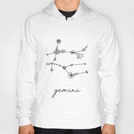 Gemini Floral Zodiac Constellation Hoody