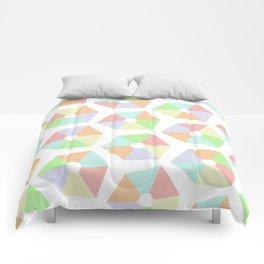 Pastel Rainbow Pinwheels Comforters