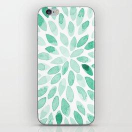 Watercolor brush strokes - aqua iPhone Skin