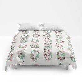 Christmas unicorn Comforters