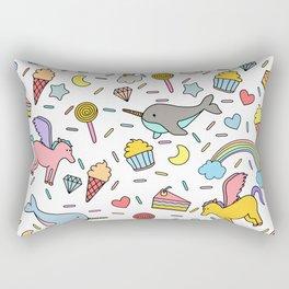 Pegasuses, Narwhals & Sugary Treats Rectangular Pillow