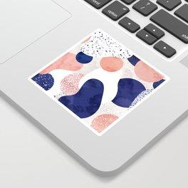 Terrazzo galaxy pink blue white Sticker