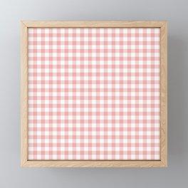 Lush Blush Pink and White Gingham Check Framed Mini Art Print