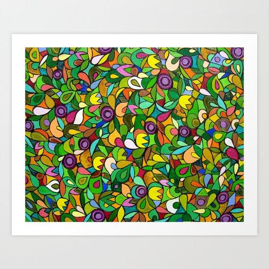 Colorful Garden Art Print