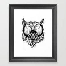 Beware the Owlbear Framed Art Print